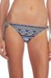 Kenneth Cole Reversible Indigo Tribal Beat Side Tie Bikini Bottom