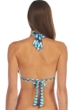 Kenneth Cole Teal Ikat in the Act Tie Halter Bikini Top