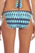 Kenneth Cole Teal Ikat in the Act Side Tie Bikini Bottom