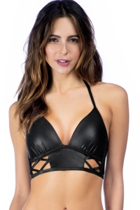 Kenneth Cole New York After Midnight Cut Out Push Up Bikini Top