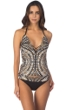 Kenneth Cole Desert Romance Strappy Front Push Up Halter Tankini Top