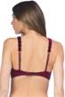 Kenneth Cole Burgundy Velvet Stripe Mesh High Neck Bikini Top