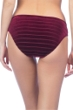 Kenneth Cole Burgundy Velvet Stripe Hipster Bikini Bottom