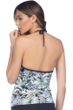 Kenneth Cole Palm Reading Push Up Halter Tankini Top