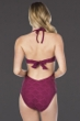 Kenneth Cole New York Hall of Fame Wine Push Up One Piece Swimsuit