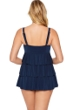 Longitude Shirring Chic Blue Triple Tiered Swimdress