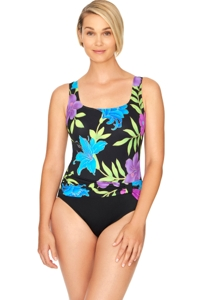 Robby Len by Longitude Casanova Long Torso Sash One Piece Swimsuit