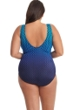 Longitude Going My Way High Neck Scoop Back One Piece Swimsuit