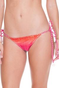Luli Fama Sunset Angel Crochet Ruched Brazilian Bikini Bottom