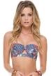 Luli Fama Rebeldia Underwire Cut Out Bandeau Bikini Top