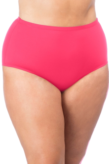 La Blanca Pink Plus Size Classic Brief Swim Bottom