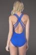 La Blanca Sapphire Island Goddess Cross Back One Piece Swimsuit