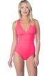 La Blanca Watermelon Island Goddess Cross Back One Piece Swimsuit