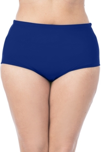 La Blanca Solid Midnight Blue Plus Size Hi-Rise Swim Bottom