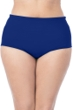La Blanca Solid Midnight Blue Plus Size Hi-Rise Swim Bottom
