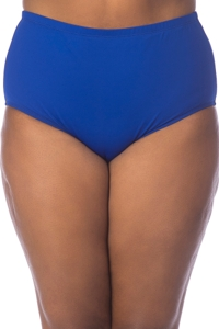La Blanca Solid Sapphire Blue Plus Size Hi-Rise Swim Bottom