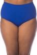 La Blanca Solid Sapphire Blue Plus Size Hi-Rise Swim Bottom