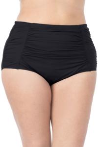 La Blanca Solid Black Plus Size Ultra Hi-Rise Swim Bottom