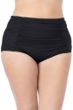 La Blanca Solid Black Plus Size Ultra Hi-Rise Swim Bottom