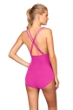 La Blanca Magenta Cross Back One Piece Swimsuit