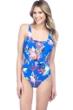 La Blanca Havana Tropics Mesh Inset One Piece Swimsuit