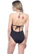 La Blanca La Azteca Plunge Halter One Piece Swimsuit