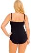 La Blanca Plus Size Solid Black Twist Front Sweetheart One Piece Swimsuit