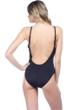 La Blanca Black Plunge Twist One Piece Swimsuit