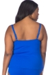 La Blanca Solid Sapphire Blue Plus Size Twist Front Tankini Top