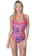La Blanca Watermelon Global Perspective Strappy Cross Back One Piece Swimsuit