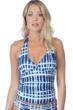 La Blanca Moody Blues Goddess Halter Tankini Top