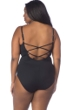 La Blanca Solid Black Plus Size High-Neck One Piece Swimsuit