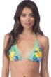 La Blanca Limoncello Triangle Halter Bikini Top