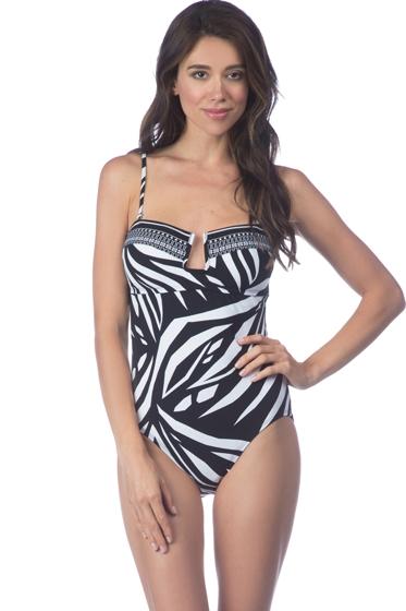 La Blanca Sevilla Scarf Bandeau One Piece Swimsuit