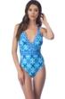 La Blanca True Blue Surplice Cross Back One Piece Swimsuit