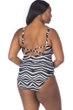 La Blanca Wild Safari Plus Size Lace Up One Piece Swimsuit