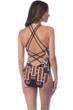 La Blanca Tanzania Tribe High Neck Strappy Back One Piece Swimsuit