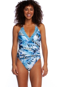 La Blanca Two Cool Strappy Shirred Underwire One Piece Swimsuit