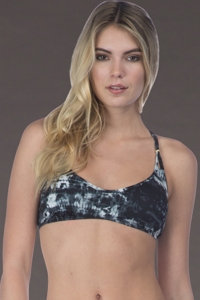 Lucky Brand Global Tie Dye Bralette Bikini Top
