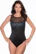 Longitude Embellished High Neck One Piece Swimsuit