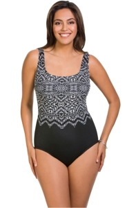 Longitude Safari Night X-Back One Piece Swimsuit