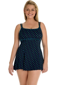 Longitude Candy Dot Lingerie Swimdress