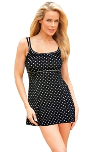 Longitude White Dots Lingerie Swimdress