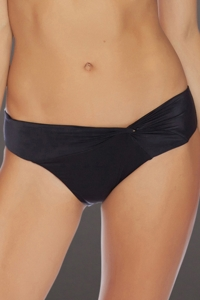 Luxe by Lisa Vogel Onyx Liquid Side Twist California Bikini Bottom