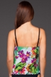 Maxine of Hollywood White Summer Bounty Ruffled Tankini Top