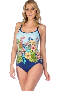 Maxine of Hollywood Floral Dreams X-Back One Piece Swimsuit