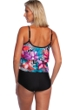 Maxine of Hollywood Serengeti Stripe Double Tiered One Piece Swimsuit
