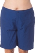 Maxine of Hollywood Plus Size Solid Navy Woven Long Board Short Swim Bottom