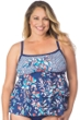 Maxine of Hollywood Plus Size Tropical Trip Tankini Top