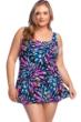 Maxine of Hollywood Sparkler Plus Size Princess Seam Swimdress